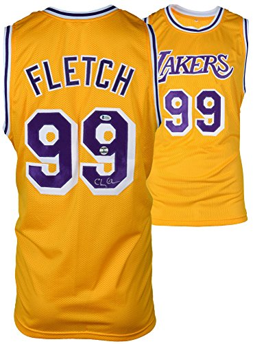 934ccfe481b Chevy Chase Autographed Fletch Lakers Jersey - BAS COA - Beckett  Authentication