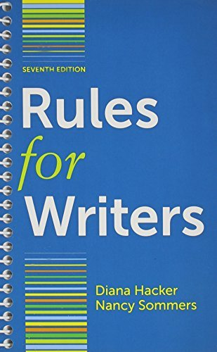 By Diana Hacker Rules for Writers 7e & LearningCurve for Rules for Writers 7e (Access Card) (Seventh Edition) [Paperback] pdf