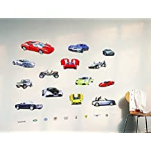 Cars Wall Decal Home Sticker House Decoration WallPaper Removable Living Dinning Room Bedroom Kitchen Art Picture Murals DIY Stick Girls Boys kids Nursery Baby Playroom Decoration