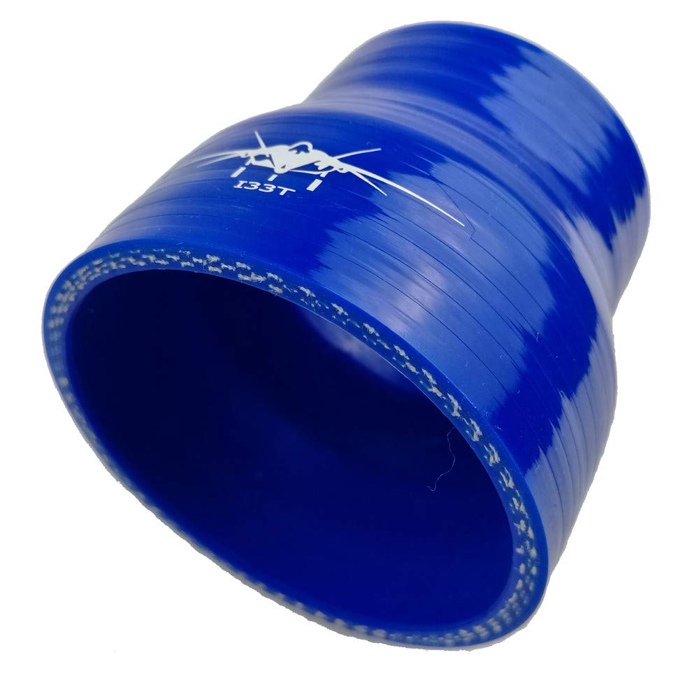 1.5 to 1 6//8 Inch Leg Length 3.5 Inch Blue /… I33T 90-Deg Elbow Reducer Coupler Silicone Hose Inner Diameter 1.5 Inch to 1.77 Inch 38 to 45 mm