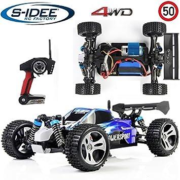 Coche teledirigido de s-idee® 18105 A959, 1:18, con 2,4 GHz, 50 km/h, manejable, ruedas 4x4, juguete teledirigido: Amazon.es: Juguetes y juegos