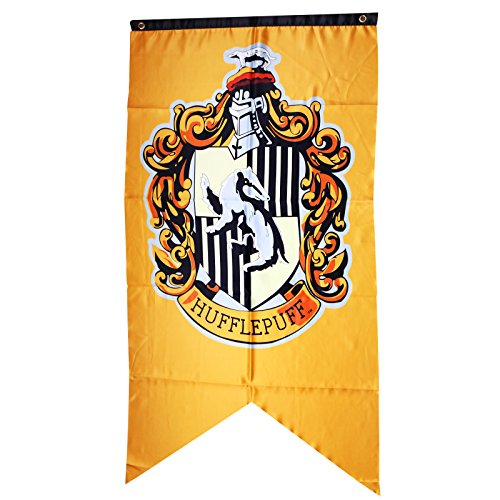 XXL Harry Potter Banner Hufflepuff College Flag Yellow Badger Home Decor Gift 12575cm