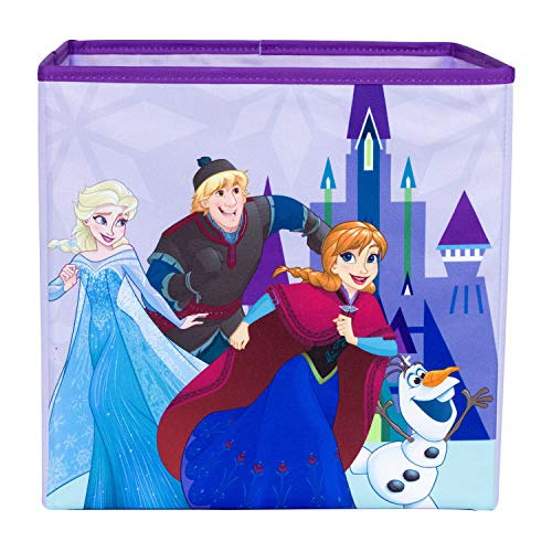 Everything Mary Frozen Collapsible Storage Bin by Disney - Cube Organizer for Closet, Kids Bedroom Box, Nursery Chest - Foldable Home Decor Basket Container with Strong Handles and Design -
