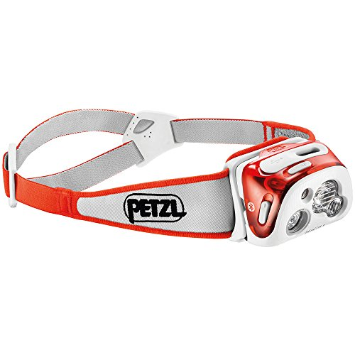 (Petzl - REACTIK+ Headlamp, 300 Lumens, Bluetooth Enabled, Orange)
