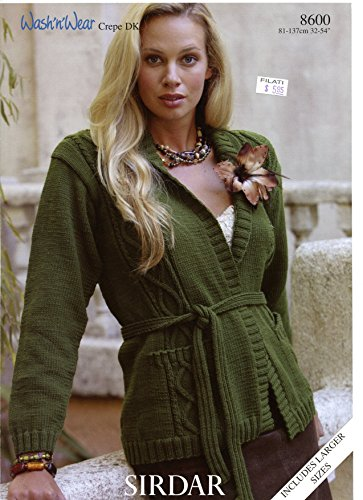 DK Women's Jacket - Sirdar Knitting Pattern 8600