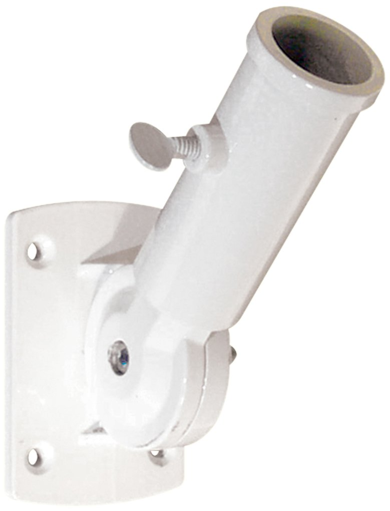 Prime-Line Products U 10256 Flag Pole Holder, Adjustable, White Diecast