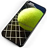 iPhone Case Fits iPhone 7 Tennis Ball Racket Court Game Set Match Wimbledon Black Plastic