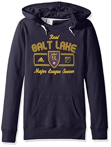 Arch Salt (MLS Real Salt Lake Women's Box Line Arch Fleece Crewdie Sweater, Medium, Navy)