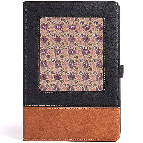 Classic Ruled Hard Cover Notebook Abstract Leather Notebook for Men Women,Size 6.1x8.6 in