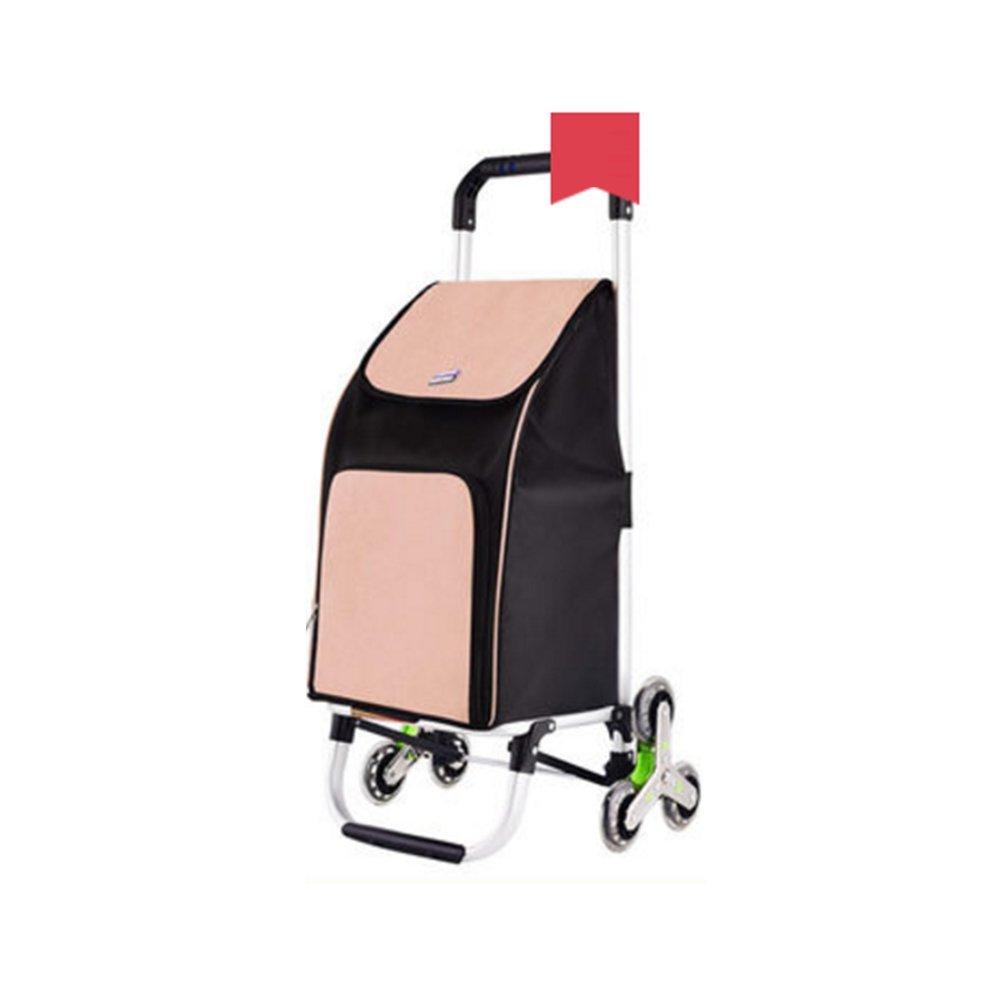 ハンドカート ポータブルショッピングカート小型カート階段折り畳みトロリー家庭-90 * 42 * 40センチメートル トロリー (色 : Karting color) B07F81TJ93 Karting color Karting color