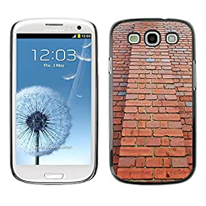 Hot Style Cell Phone PC Hard Case Cover // M00150604 Tall High Bricks Red Wall Brick // Samsung Galaxy S3 S III SIII i9300