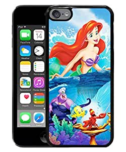 iPod Touch 6 Case ,Newest And Beautiful Designed Case With The Little Mermaid disney princess Black iPod Touch 6 Screen Case Good Quality Designed Phone Case