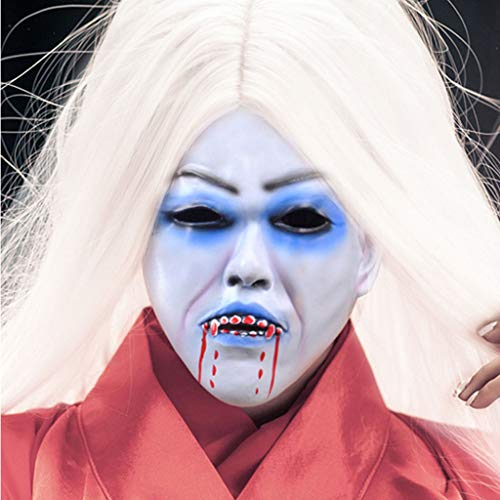 Masks White-haired Witch Bleeding Vampire Female Ghost Scary