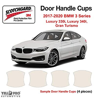 YelloPro Custom Fit Door Handle Cup 3M Scotchgard Anti Scratch Clear Bra Paint Protector Film Cover Self Healing PPF Guard Kit for 2020 2020 2020 2020 BMW 3 Series Luxury 330i 340i Gran Turismo: Automotive