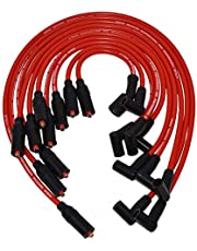 A-Team Performance Silicone Spark Plug Wires Set LT1 LT4 Optispark Compatible with GM Chevy Chevrolet Pontiac Z28 Camaro Corvette Firebird Impala Caprice 1992-1997 5.7L 4.3L - Red 8mm
