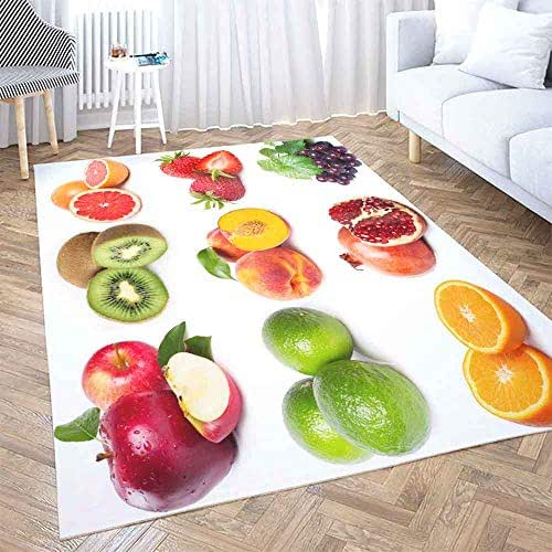 Area Rugs 5X7,Shorping Large Area Rug Modern Area Rug Vintage Area Rug Collection Fruits White Background Fun Area Rug Rugs for Bedroom Cute Area Rug