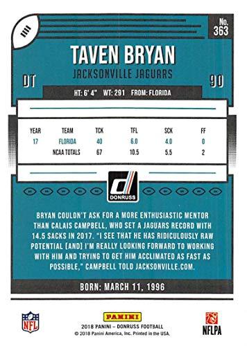 Amazon.com  2018 Donruss Press Proof Red Football  363 Taven Bryan  Jacksonville Jaguars Rookie  Collectibles   Fine Art 77226c520