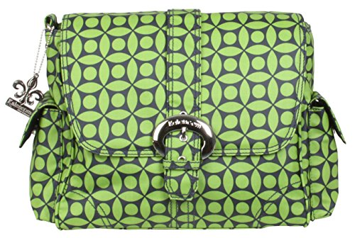 Kalencom Midi Matte Coated Buckle Bag, Green Clover