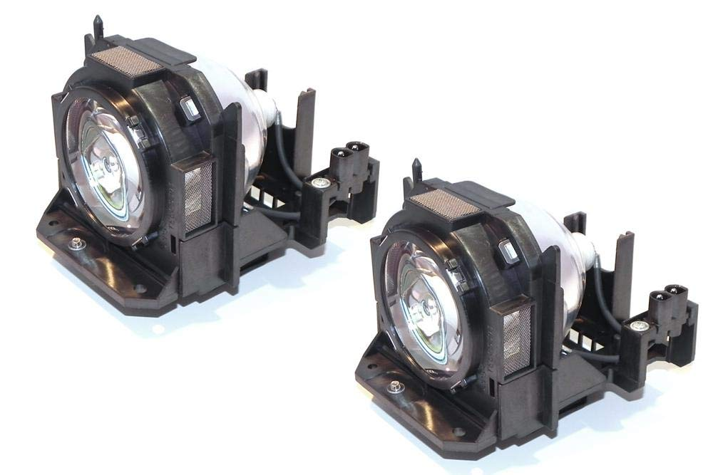 eReplacements ET-LAD60W-OEM - Projector lamp (equivalent to: Panasonic ET-LAD60W) - 300 Watt - 2000 hour(s) (pack of 2) - for Panasonic PT-D5000, D6000, DW6300, DZ6700, DZ6710   B01N01ZMXS