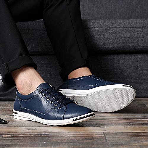 Leather Casual Men's Shoes Sneakers Another Breathable Summer Fashion Blue qI7AEqwOxc