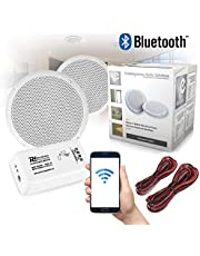 Bluetooth Ceiling Speakers and Amplifier System for Kitchen Bathroom Home Audio Wireless