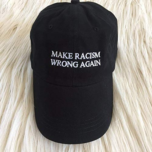 6cbf5a84 Amazon.com: Make Racism Wrong Again Embroidered Hat: Handmade