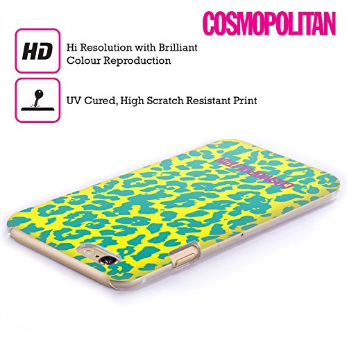 Official Cosmopolitan Blue Green Cheetah Animal Skin Patterns Hard Back Case for Apple iPhone 4 / 4S