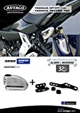 Artago 32S2 Anti-Theft Disc Lock with Alarm 120db High Range and Support for Yamaha MT-07, S.A.A Closure, Approved SRA, Bunker Selection, Stainless Steel