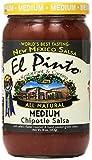 salsa el pinto - El Pinto Chipotle Salsa, Medium, 16 Ounce (Pack of 6)