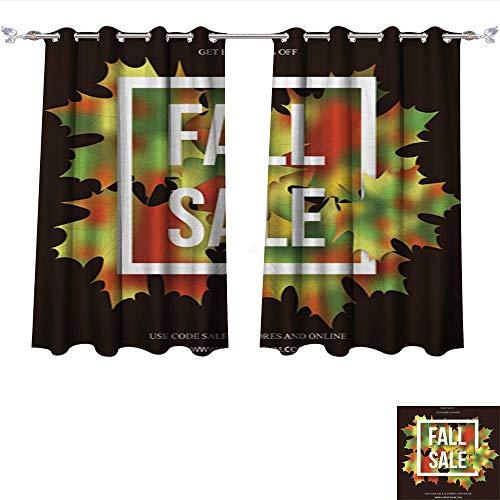 AmaPark Window Curtain Fabric Autumn Seasonal Sale Banner de
