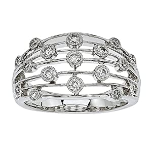 3/8ct Diamond Band in 10K White Gold