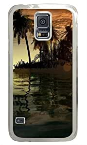 3D Islands And Tree Custom Samsung Galaxy S5 Case and Cover - Polycarbonate - Transparent