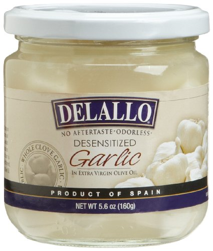 DeLallo Imported Whole Clove Garlic in Oil, 5.6-Ounce Jars (Pack of 12)