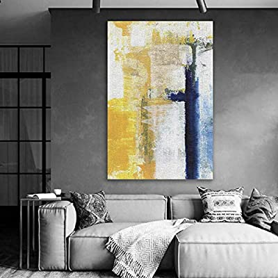 Canvas Wall Art - Abstract Art Colorful Painting for Living Room - Modern Home Art Stretched and Framed Ready to Hang - 32x48 inches