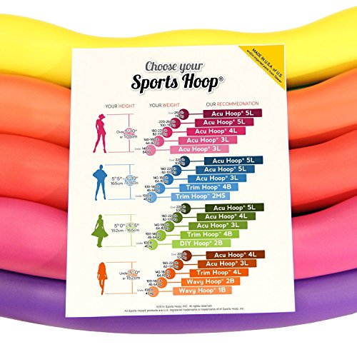 """Acu Hoop® 3M - 3lb (Dia.38"""") Medium, Weighted Hula Hoop for Workout with 50 minutes Workout Lesson DVD"""