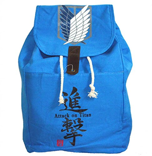 Bromeo Attack on Titan Survey Cops Canvas Backpack Drawstring Bag