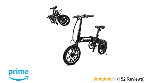 SwagCycle EB-5 Pro Lightweight and Aluminum Folding EBike with Pedals,  Power Assist, and 36V Lithium Ion Battery