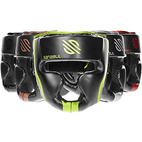 Sanabul Essential MMA Boxing Kickboxing Head Gear (Green, L/XL)