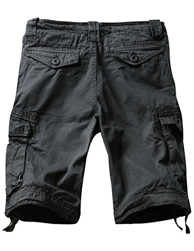Match Mens Twill Cargo Shorts Quick-dry Summer Shorts S3612 (Label size 4XL/40 (US 38), Dark gray)