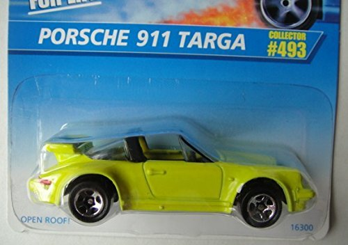 HOT WHEELS YELLOW PORSCHE 911 TARGA #493