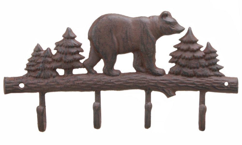 Amazon.com: Hierro fundido oso perchero de pared rack ...