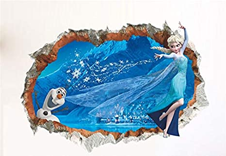 Kibi Stickers Infantiles Frozen Adhesivos Pared Decorativos 3d Pegatinas De Pared Frozen Para La Habitación Niños Decoración De Pared Dormitorio Bebe ...