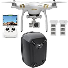 DJI Phantom 3 Professional Quadcopter with 4K Camera, 3-Axis Gimbal, Extra Battery and Hard-shell Backpack, Remote Controller Included