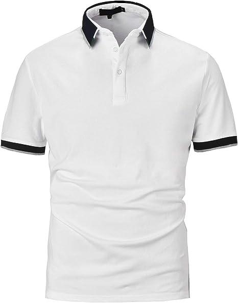 PIPIHU Polo Hombre Manga Corta Algodón Camiseta Casual T-Shirt ...