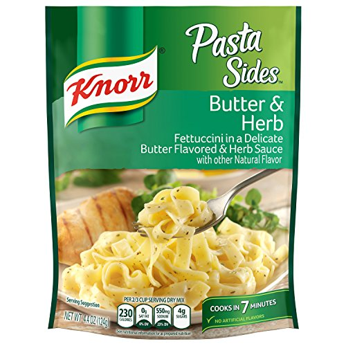 Knorr Side Dishes - Knorr Pasta Sides Pasta Sides Dish, Butter & Herb 4.4 oz(Pack of 8)