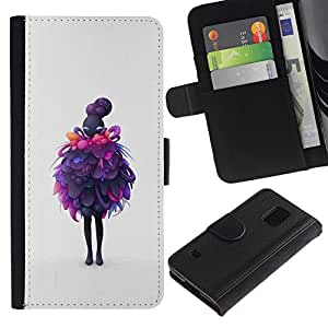 All Phone Most Case / Oferta Especial Cáscara Funda de cuero Monedero Cubierta de proteccion Caso / Wallet Case for Samsung Galaxy S5 V SM-G900 // Purple Layers