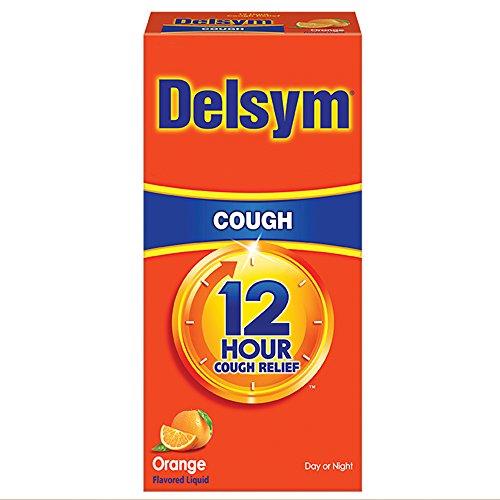 Delsym Adult 12 Hr Cough Relief Liquid, Orange, 3oz