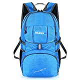 Cheap Bekahizar Lightweight Backpack 35L Hiking Daypacks Water Resistant Travel Day Bag Foldable Packable Outdoor Camping Walking Cycling Sports Day Trips (Blue)
