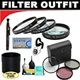 Deluxe 7 Piece Filter Kit Which Includes A +1 +2 +4 +10 Close-Up Macro Filter Set with Pouch + High Resolution 3-piece Filter Set (UV, Fluorescent, Polarizer) + 6-Piece Deluxe Cleaning Kit + Lenspen + Lens Cap Keeper + DB ROTH Micro Fiber Cloth For The Sony HDR-UX1, DCR-DVD101, DVD201, DVD300, DVD301 DVD Camcorders