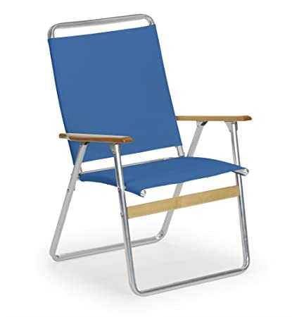 Telescope Casual Original Highback Folding Beach Arm Chair, Cobalt